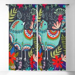 mandala flower birds Blackout Curtain