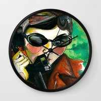 amelie Wall Clocks featuring Amelie by Gra Pereira