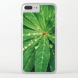 Diamond Leaf Clear iPhone Case
