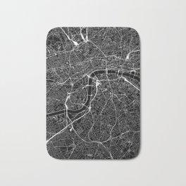 London Black Map Bath Mat