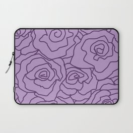 Lavender Dreams Roses - Light with Dark Outline - Color Therapy Laptop Sleeve