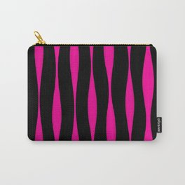 Wavy Pattern (Pink+Black) Carry-All Pouch