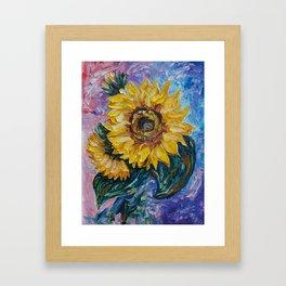 That Sunflower From The Sunflower State Framed Art Print