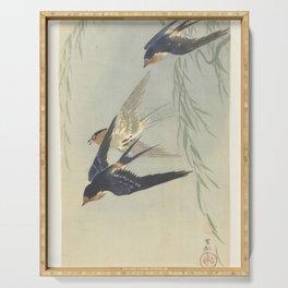 Three birds in full flight - Ohara Koson (1887 - 1945) Serving Tray