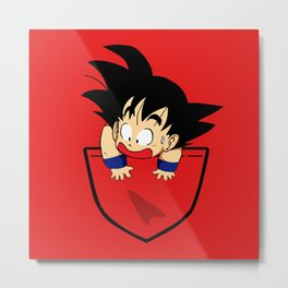 Pocket Saiyan Metal Print