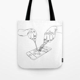 Devouring social media Tote Bag