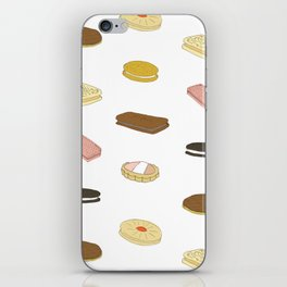biscui - biscuit pattern iPhone Skin