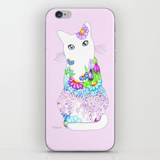 Blue-Eyed Lilac Kitty iPhone Skin