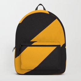 Black Yellow Diagonals Backpack