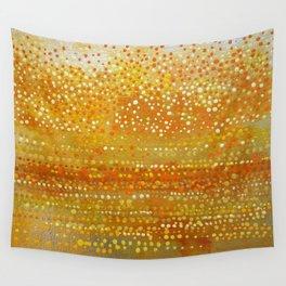Landscape Dots - Orange Wall Tapestry