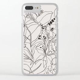 Charcoal Tropics Clear iPhone Case