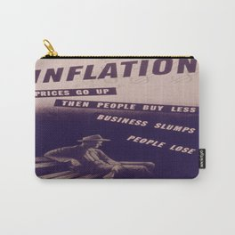 Vintage poster - Inflation Carry-All Pouch