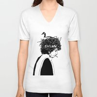dylan V-neck T-shirts featuring Dylan by Sy Graham