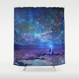 Ocean, Stars, Sky, and You Shower Curtain
