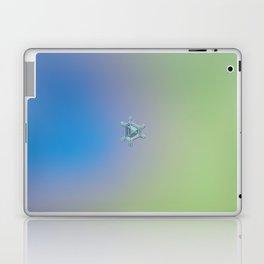 Real snowflake macro photo - Emerald Laptop & iPad Skin