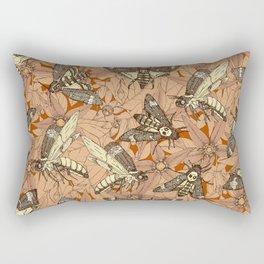 Death's-head hawkmoth rust Rectangular Pillow