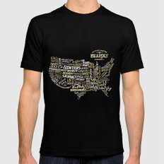 UNITED STATES OF BEARDLY Mens Fitted Tee Black MEDIUM