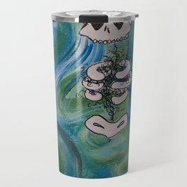 Blue Skelly Dude Travel Mug