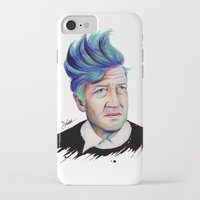 david lynch iPhone & iPod Cases featuring David Lynch by Coco Dávez