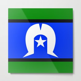Torres Strait Islander Flag Metal Print