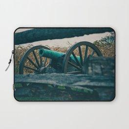 Artillery seen through a Fence Antietam National Battlefield Civil War Battleground Maryland Laptop Sleeve