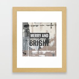 Snowfall - merry and bright Framed Art Print