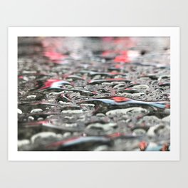 Droplets In Times Square No.2 Art Print