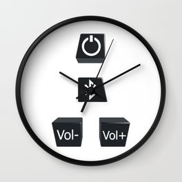 Buttons Wall Clock