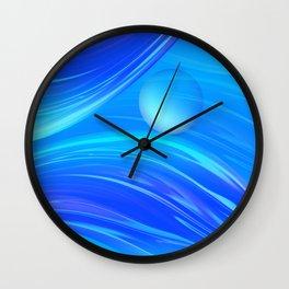 Blue Waves 83 Wall Clock