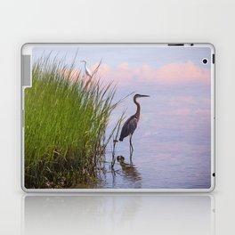 Blue Heron In Assateague Laptop & iPad Skin