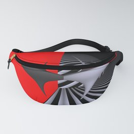circular images on black -28- Fanny Pack