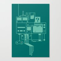 video games Canvas Prints featuring Video Games by Isra