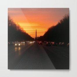 Blurry Berlin Sunset Metal Print