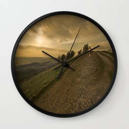 Wuthering hills Wall Clock
