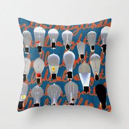 Lightbulbs Throw Pillow