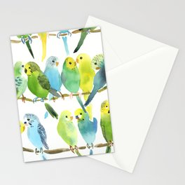 A Chatter of Budgerigars Stationery Cards