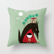 Story telling: little red Throw Pillow
