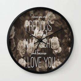 Isaiah 43:4 Wall Clock