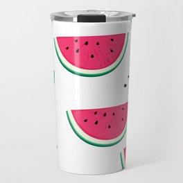 Fresh watermelon pattern. Travel Mug