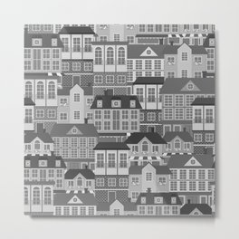 Urban. Black and white Metal Print
