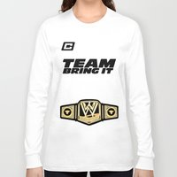 wwe Long Sleeve T-shirts featuring Team Bring It The Rock WWE by ems23