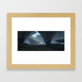 Squarerockdeers Framed Art Print