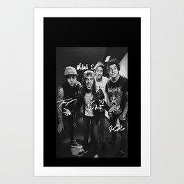 Pierce The Veil - Vic Fuentes, Mike Fuentes, Tony Perry & Jaime Preciado Art Print