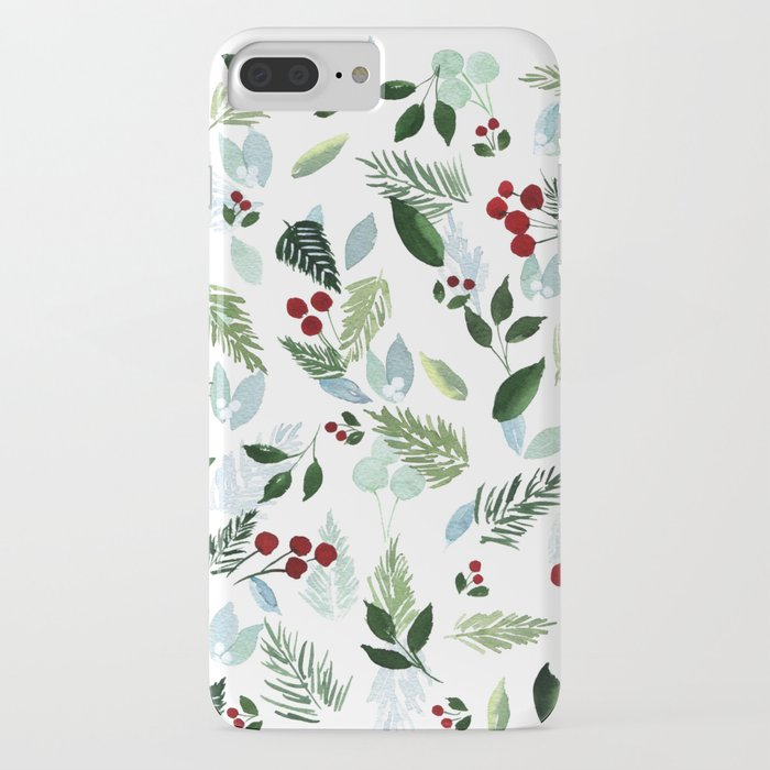blue christmas iphone case