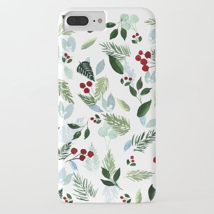 blue christmas iphone case