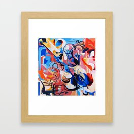 Expressive Abstract People Composition painting Framed Art Print