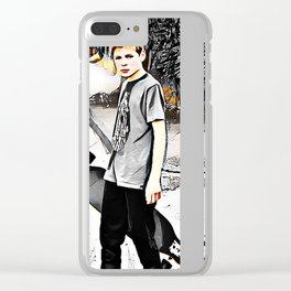 Skater boy Clear iPhone Case