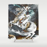 napoleon Shower Curtains featuring Napoleon by FakeFred
