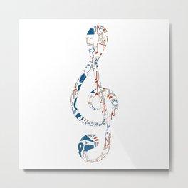Music Pattern No.1 Metal Print