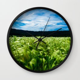 Green Summer Wall Clock